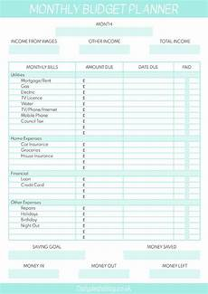 Sample Budget Planner Free Printable Monthly Budget Planner