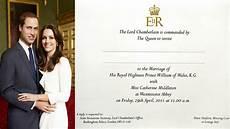 prince william and kate middleton s wedding invites prepared