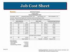 Job Cost Sheet Template Job Cost Report Template Excel Project Management