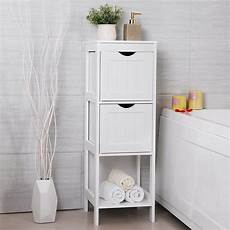 slim white bathroom storage bedside cabinet drawers corner