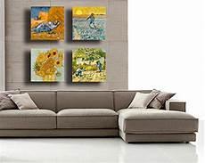 quadri moderni per arredamento da letto quadri moderni gogh 4 pezzi girasoli notte stellata