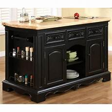 powell pennfield kitchen island counter stool our pennfield kitchen island with black granite removable