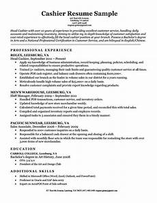 Sample Cv For Cashier Job Cashier Resume Sample Resume Companion