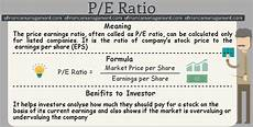 Pe Definition P E Ratio Efinancemanagement Com