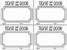 Ticket Out The Door Printable 1st Grade Fantabulous A Little Bit Of This And That