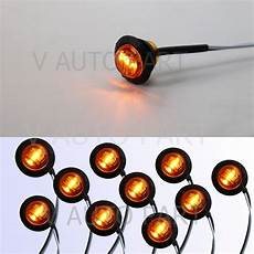 Amber Marker Lights 10x Mini 12v 3 4 Quot Round Marker Tailer Light Amber