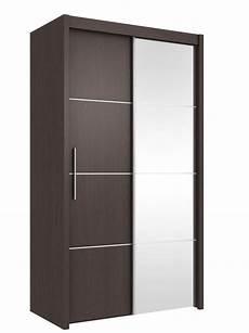 inova small sliding door wardrobe cupboard espresso wenge
