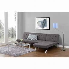 dhp emily futon modern furniture chaise lounger size