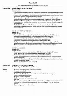 Internal Resume Template Internal Medicine Resume Samples Velvet Jobs