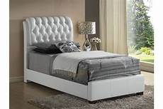 midnight white upholstered size bed