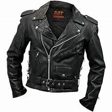 leathers mens classic leather motorcycle jacket