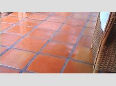 16x16 Super Sealed mexican floor tile sorted for more red terra cotta shades   Interesting