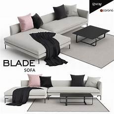 78 Sofa 3d Image by 3d Model Blade Sofa Vr Ar Low Poly Max Fbx