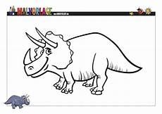 dino malvorlage pdf drucke selbst gratis ausmalvorlage dinosaurier triceratops