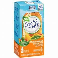 Crystal Light Energy Peach Mango Crystal Light On The Go Peach Mango Green Tea Drink Mix 10