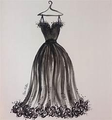 fashion illustration black dress fashion sketch