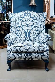 gray damask wingback chair upholstered accent chairs