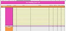 Wedding Guest List Spread Sheet S Plans Super Helpful Wedding Planning Spreadsheets