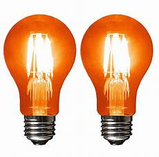 Orange Filament Light Bulb Sleeklighting Led 4watt Filament A19 Orange Colored Light