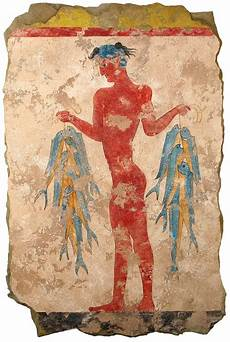 fresco ancient the fisherman fresco from akrotiri during