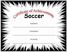 Soccer Certificate Templates For Word Soccer Certificate Template Microsoft Word Templates