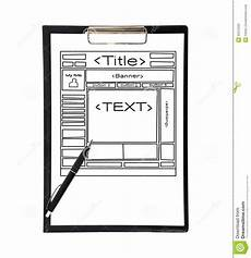 Clipboard Template Clipboard With Template Web Page Stock Photo Image Of