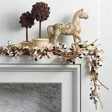 Ballard Designs Garland Cotton Leaf Garland Fall Mantel Decorations Leaf