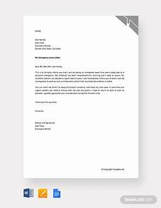 Emergency Vacation Request Letter Free Personal Emergency Leave Letter Template Word