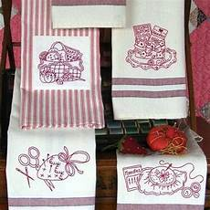 Christmas Tea Towel Embroidery Designs Set Of 5 Tea Towels With Fun Machine Embroidery Motifs