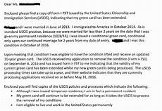 Cover Letter For Green Card Application Uscis Green Card Extension Letter Gemescool Org