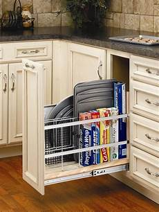 pull out tray divider for cookie sheets pizza pans and