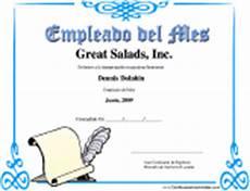 Formato Reconocimiento Empleado Del Mes Certificados Profesionales Libre Para Imprimir Los