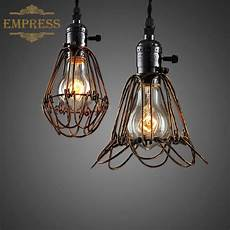Light Bulb Shades Birdcage Lights Iron Wire Lamp Cage Retro Lampshade