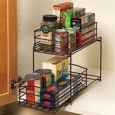 seville classics 2 tier sliding basket cabinet organizer
