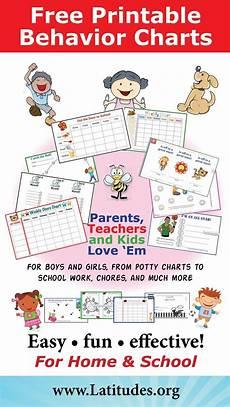 Free Printable Behavior Charts Free Printable Behavior Charts For Home Amp School Free