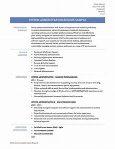 Server Admin Resume System Administrator Resume Samplestemplates And Tips By