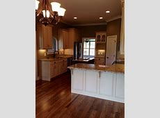 Almond Brittle Porter Paint color cabinets with St Cecelia Granite   New Home   Pinterest