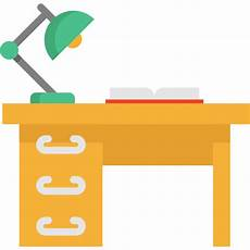 desk free furniture and household icons