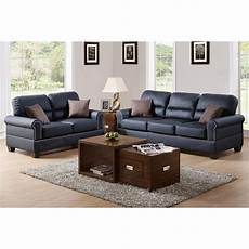 poundex bonded leather 2pc sofa and loveseat set sears
