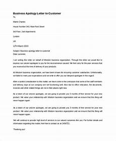 Apology Letter To Customers Free 7 Sample Business Apology Letter Templates In Pdf