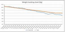 Weight Loss Chart Template Excel Excel Template Weight Loss Template Lb Or Kg By