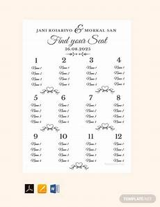 Downloadable Seating Chart 35 Wedding Seating Chart Templates Pdf Doc Free