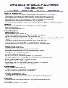 What Is Summary Of Qualifications On A Resume Best Summary Of Qualifications Resume For 2016