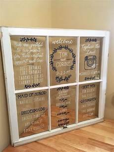 Cricut Wedding Seating Chart Wedding Window Program Or Seating Chart Custom Made
