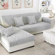 White Slip Covers For Furniture Sofa 3d Image by Aliexpress Buy White Grey Floral Quilted Sofa Cover
