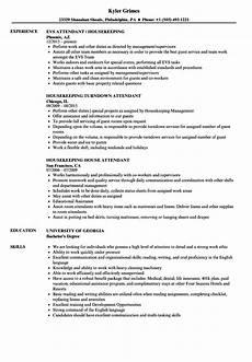Housekeeping Aide Resume Attendant Housekeeping Resume Samples Velvet Jobs