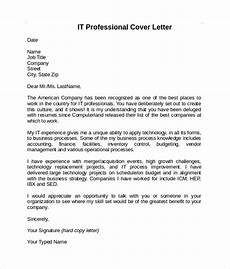 Information Technology Cover Letters Information Technology Cover Letter Template Aktin