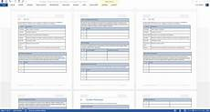 Word Templets Operations Guide Template Ms Word Excel Templates