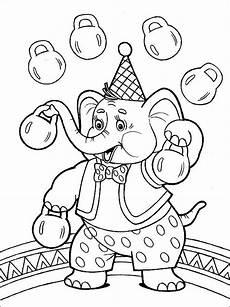 ausmalbilder malvorlagen zirkus kostenlos zum