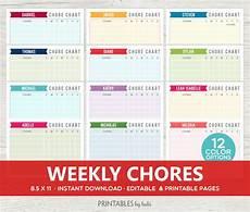 Free Editable Chore Chart Template Kids Chore Chart Editable Chore Chart Printable By Cardsbybubi
